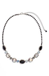 Sorrelli Adorned Multi Cut Crystal Necklace Black