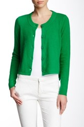 Pink Tartan Cropped Knit Cardigan Green