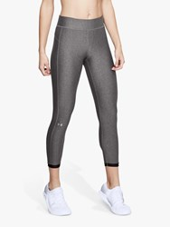 Under Armour Heatgear Ankle Crop Training Leggings Charcoal Black Silver