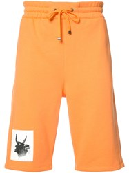 Helmut Lang Photo Printed Shorts Yellow Orange