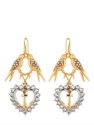 Schield Anchor Line Earrings