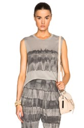 Raquel Allegra Muscle Tee In Gray Ombre And Tie Dye
