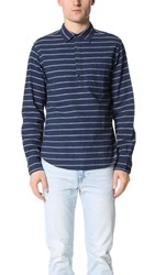 Alex Mill Tucking Stripe Cape Shirt Navy