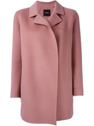 Theory Single Breasted Coat Pink And Purple