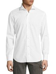 Eleventy Spread Collar Shirt White