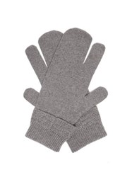 Maison Martin Margiela Split Wool Blend Mittens Dark Grey