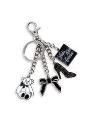 Saks Fifth Avenue Store Front Keychain Silver