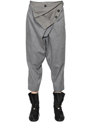 Vivienne Westwood Anglomania Artifice Wool And Viscose Flannel Pants