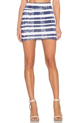 Rachel Pally Bandage Mini Skirt Blue
