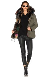 Sam. Multi Kate 4 In 1 Jacket With Fox Fur Army