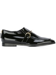 Stella Mccartney Patent Buckle Loafers Black