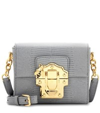 Dolce And Gabbana Small Lucia Shoulder Bag Grey