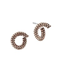Michael Kors Holiday Color Rush Cubic Zirconia Ip Earrings Brown
