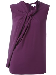 Carven Twisted Detail Sleeveless Blouse Pink And Purple