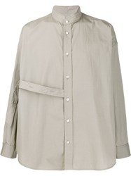 Damir Doma Loose Fit Strap Detail Shirt Green