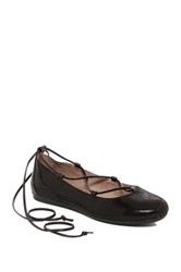 Easy Spirit Ginada Reptile Embossed Ghillie Lace Flat Black
