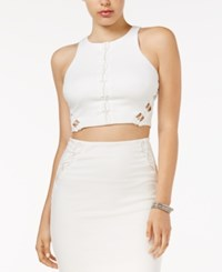 Guess Mona Lace Up Crop Top Scuffy