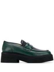 Marni Thick Sole Loafers Green