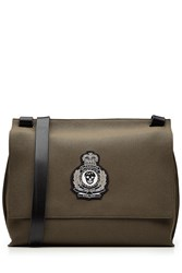 Alexander Mcqueen Cotton Messenger Bag With Leather Green
