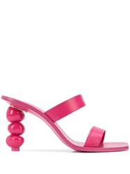 Cult Gaia Meta Stacked Stone Heel Pink