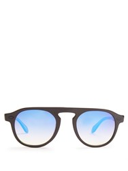 Garrett Leight Harding Square Frame Sunglasses Black Multi