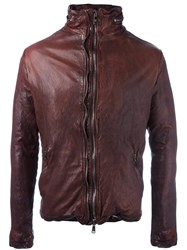 Giorgio Brato Zipped Leather Jacket Red