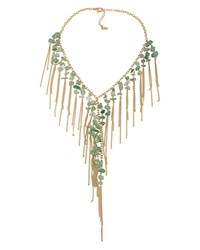 Abs By Allen Schwartz Bib Statement Necklace Green Gold