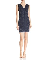 Molly Bracken Beaded Sheath Dress Navy Blue