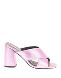 Sol Sana Ginny Crossover Leather Mules Pink
