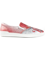 Moschino 'Drink Moschino' Sneakers Red