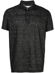 Calvin Klein Collection Flocked Polo Shirt Black