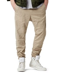 G Star Bronson Zip Tapered And Cuffed Chino Pants Beige