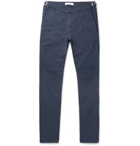 Orlebar Brown Campbell Slim Fit Tapered Stretch Cotton Twill Trousers Navy