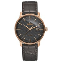 Rado R22877165 Unisex Coupole Classic Date Automatic Leather Strap Watch Brown