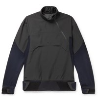 Sease High Pressure Panelled Virgin Wool Blend And Stretch Nylon Jacket Gray