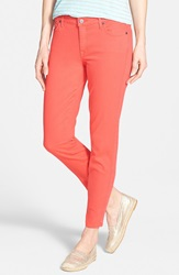 Cj By Cookie Johnson 'Wisdom' Colored Stretch Ankle Skinny Jeans Coral