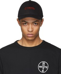 Heron Preston Black And Red Style Cap