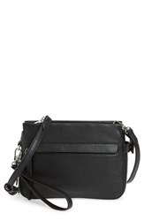 Vince Camuto Small Edsel Leather Crossbody Bag Black Nero