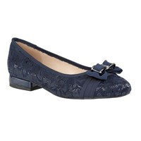 Lotus Peppery Floral Print Flats Blue