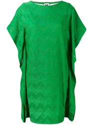 M Missoni Metallic Zip Zag Dress Women Cotton Polyamide Polyester Viscose Xl Green