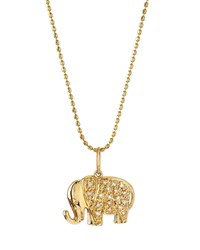 14K Gold Diamond Elephant Pendant Necklace Sydney Evan Yellowgold