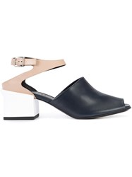 Jil Sander Colour Block Sandals Blue