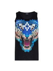 Marcelo Burlon Tiger Print Cotton Tank Top