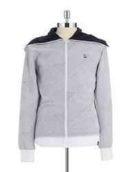 G Star Patterned Hoodie White