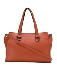 Mara Mac Structured Leather Bag Brown