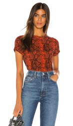 Pam And Gela Lava Snake Print Tee In Red.