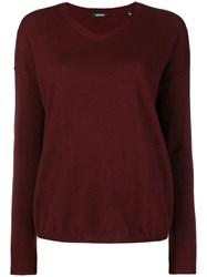 Aspesi V Neck Pullover Red