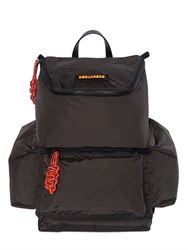 Dsquared Nylon Backpack With Rope Details