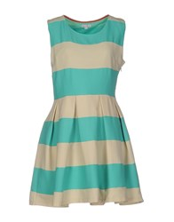 Kling Short Dresses Light Green