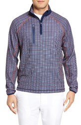 Bobby Jones Men's Xh20 Plaid Quarter Zip Stretch Golf Pullover